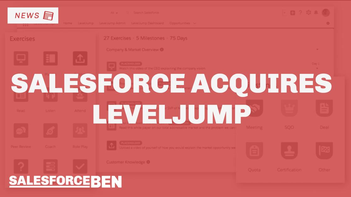 Salesforce Acquires LevelJump – Native Sales Enablement App